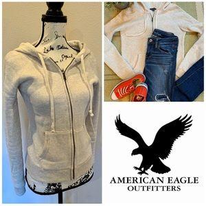 American Eagle Hoodie Sweatshirt Fleece Jacket